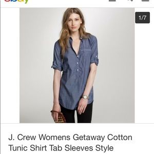 J.Crew Getaway Cotton Tunic Shirt Size Medium
